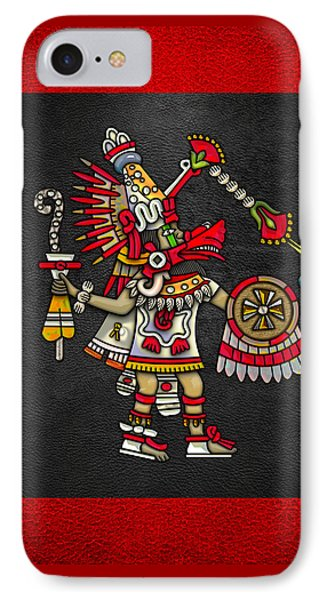 Quetzalcoatl In Human Warrior Form - Codex Magliabechiano IPhone Case by Serge Averbukh