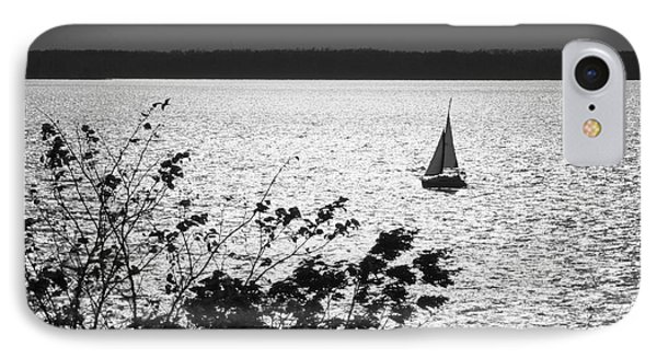 IPhone Case featuring the photograph Quick Silver - Sailboat On Lake Barkley by Jane Eleanor Nicholas
