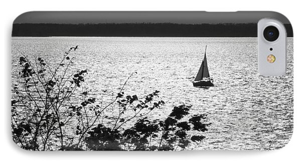 Quick Silver - Sailboat On Lake Barkley IPhone Case by Jane Eleanor Nicholas