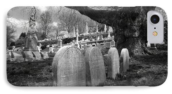 Quiet Cemetery Phone Case by Jennifer Ancker