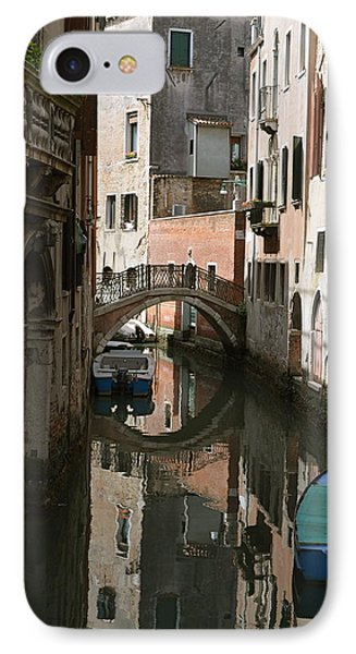Quiet Moment In Venice IPhone Case by Gerald Hiam