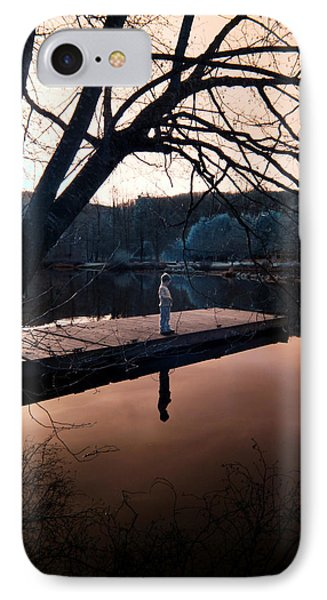 IPhone Case featuring the photograph Quiet Moment Reflecting by Rebecca Parker