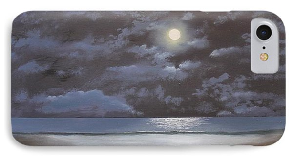 IPhone Case featuring the painting Quiet Moon by Ken Ahlering
