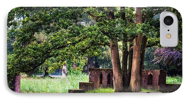 Quiet Park Corner. De Haar Castle Phone Case by Jenny Rainbow