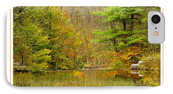 IPhone Case featuring the photograph Quiet Pond In Autumn Pocono Mountains Pennsylvania by A Gurmankin