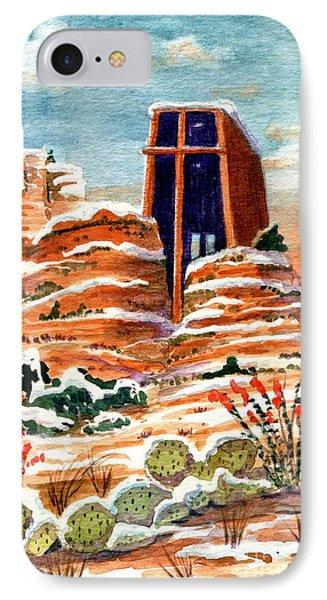 Quiet Snowfall  Sedona  Arizona IPhone Case by Marilyn Smith