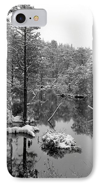 Quiet Stram After The Snowstorm IPhone Case by Allen Beilschmidt