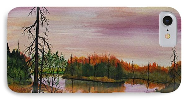 IPhone Case featuring the painting Quiet Time  by Jack G  Brauer