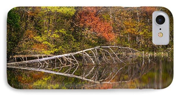 Quiet Waters In Autumn Phone Case by Debra and Dave Vanderlaan
