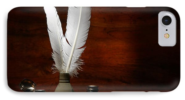 Quills And Inkwells Phone Case by Olivier Le Queinec