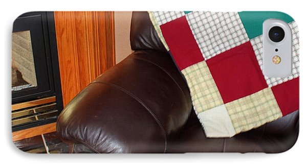 Quilt Beside A Fireplace IPhone Case
