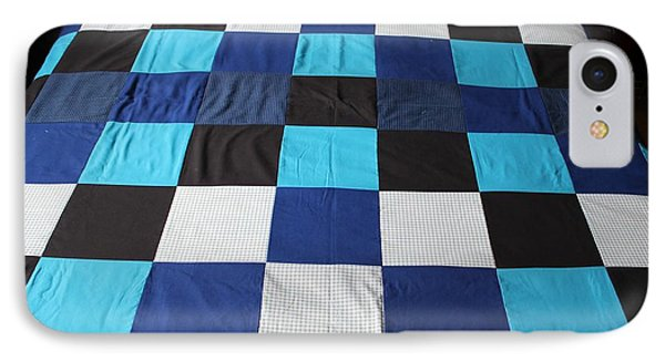 Quilt Blue Blocks IPhone Case
