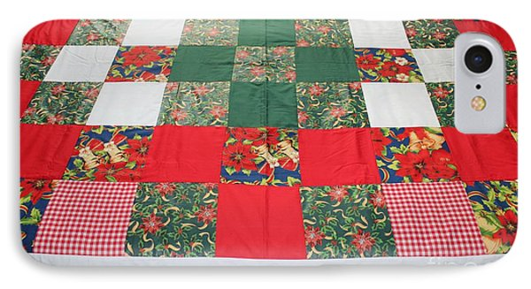 Quilt Christmas Blocks IPhone Case