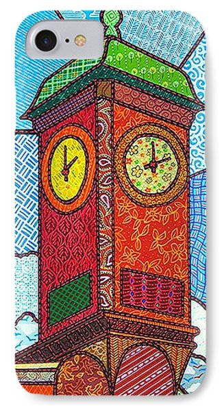 Quilted Clock Tower Phone Case by Jim Harris