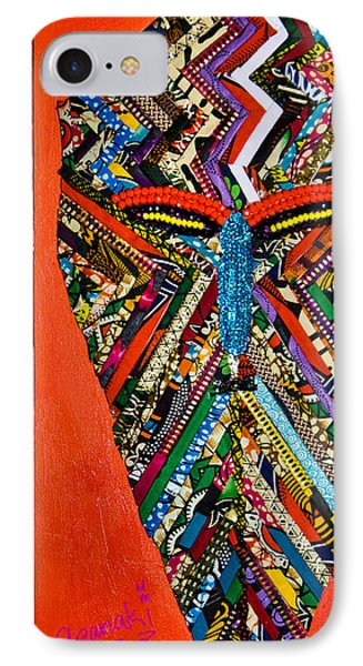IPhone Case featuring the tapestry - textile Quilted Warrior by Apanaki Temitayo M