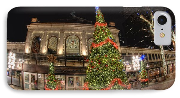 Quincy Market Holiday Lights IPhone Case by Joann Vitali