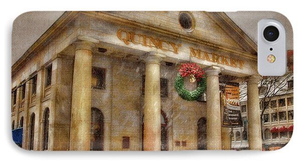 Quincy Market Snow 2 Phone Case by Joann Vitali