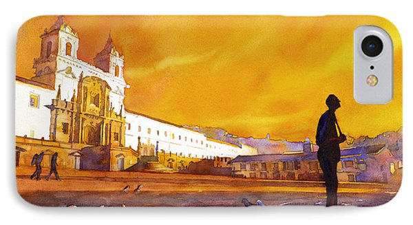 Quito Sunrise IPhone Case by Ryan Fox