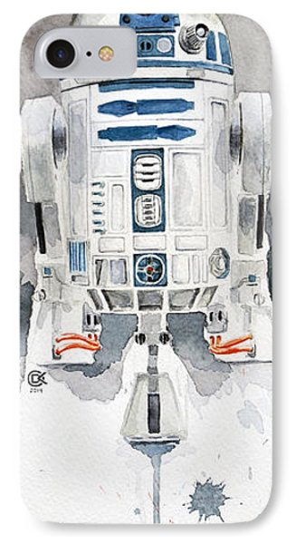 R2 IPhone Case by David Kraig