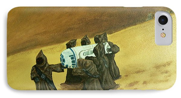 R2d2 And Jawas IPhone Case by Dan Wagner