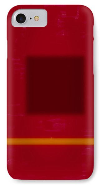 Color Field With Dark Square IPhone Case