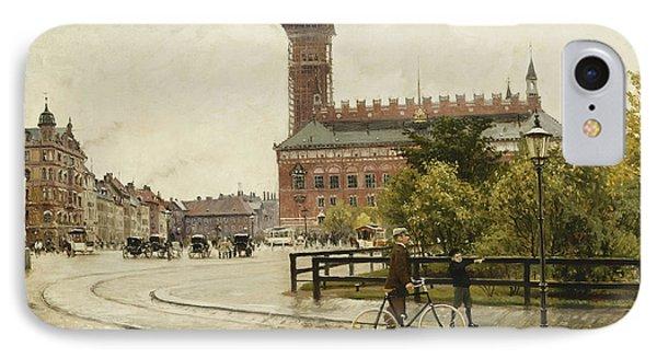 Raadhuspladsen, Copenhagen, 1893 Oil On Canvas IPhone Case