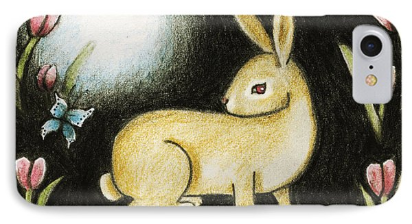 Rabbit And The Butterfly . . . From The Tapestry Series IPhone Case by Terry Webb Harshman