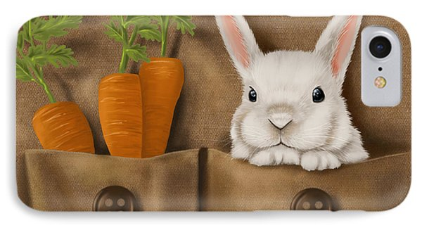 Carrot iPhone 7 Case - Rabbit Hole by Veronica Minozzi