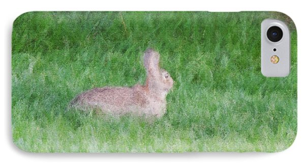 Rabbit In The Grass Phone Case by Michael Stowers