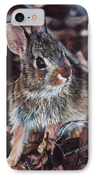 IPhone Case featuring the painting Rabbit In The Woods by Joshua Martin