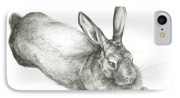 Rabbit IPhone Case by Jeanne Maze