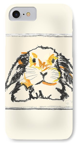Rabbit Jon IPhone Case by Go Van Kampen