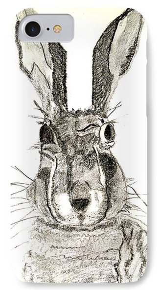 Rabbit IPhone Case by Sandy McIntire