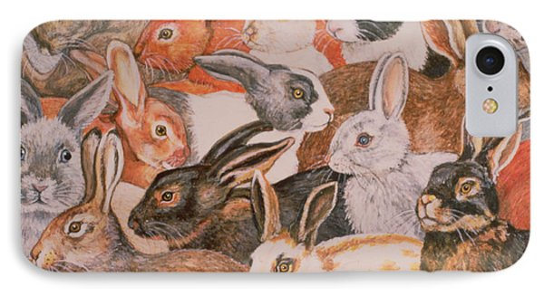 Rabbit Spread IPhone Case by Ditz