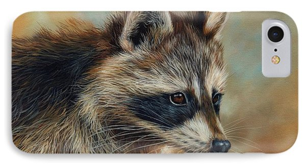 Raccoon iPhone 7 Case - Raccoon by David Stribbling