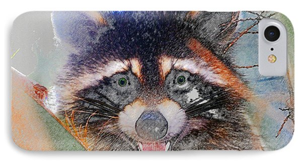 Raccoon Face IPhone Case by David Lee Thompson