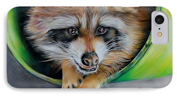 Raccoon  IPhone Case by Jean Cormier