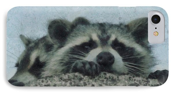 Raccoons Painterly IPhone Case by Ernie Echols