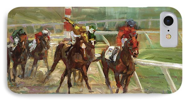 Race Horses IPhone Case