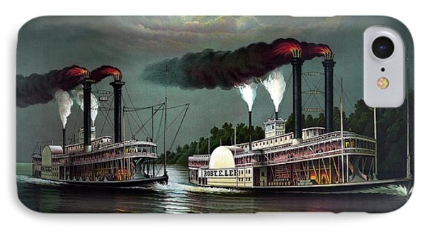 Race Of The Steamers Robert E Lee And Natchez Phone Case by War Is Hell Store