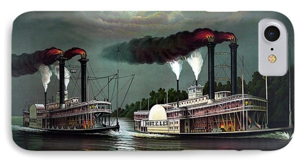 Race Of The Steamers Robert E Lee And Natchez IPhone Case