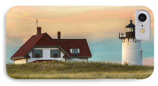 Race Point Light At Sunset IPhone Case by Brian Caldwell