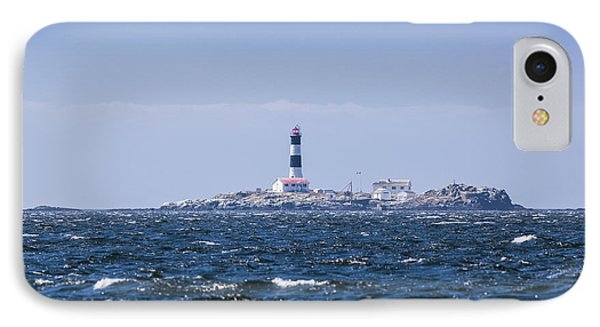 Race Rocks Lighthouse Is Situated Phone Case by Debra Brash