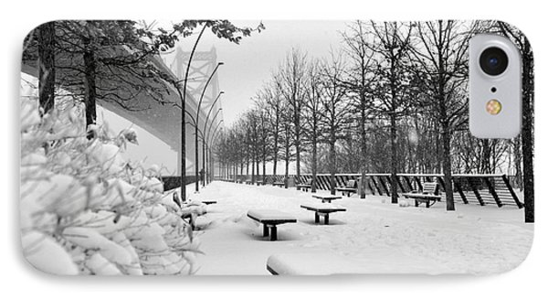 Race Street Pier - Snow Covered IPhone Case