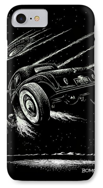 Race To The Moon IIi Phone Case by Bomonster