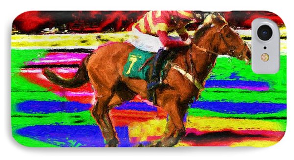 Racehorse IPhone Case by Ron Harpham