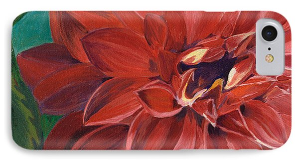 Rachael's Dahlia IPhone Case by Jodi Terracina