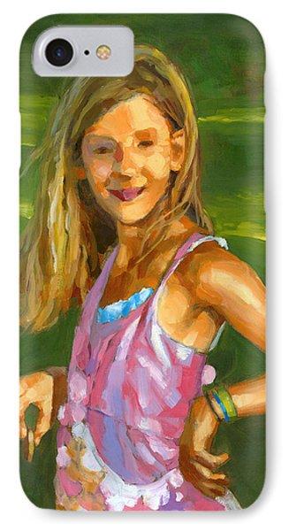 Rachel With Cookie IPhone Case by Douglas Simonson