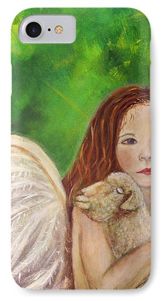 Rachelle Little Lamb The Return To Innocence Phone Case by The Art With A Heart By Charlotte Phillips