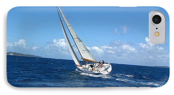 Racing At St. Thomas 2 IPhone Case by Tom Doud